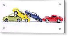 Chain Crash Acrylic Print by Patricia Hofmeester