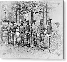 Chain Gang C. 1885 Acrylic Print by Daniel Hagerman