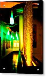 Chain Lighting Acrylic Print by Melinda Ledsome