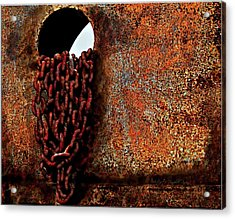 Chained To The Past And Rusted Acrylic Print
