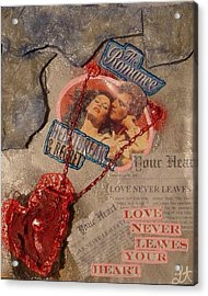 Acrylic Print featuring the painting Chains Of Love by Lisa Piper