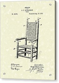 Chair 1895 Patent Art Acrylic Print by Prior Art Design