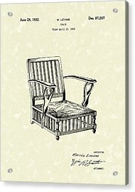 Chair 1932 Patent Art Acrylic Print by Prior Art Design