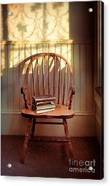 Chair And Lace Shadows Acrylic Print by Jill Battaglia