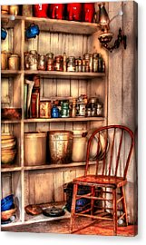 Chair - Chair In The Corner Acrylic Print by Mike Savad