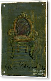 Chair Fetish '96 Acrylic Print by Cathy Peterson