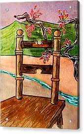 Chair In Landscape Acrylic Print