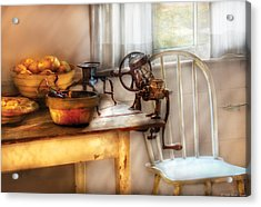 Chair - Kitchen Preparations  Acrylic Print by Mike Savad