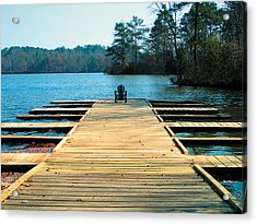 Chair On Dock By Jan Marvin Acrylic Print