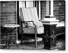 Chair On The Porch Acrylic Print by John Rizzuto