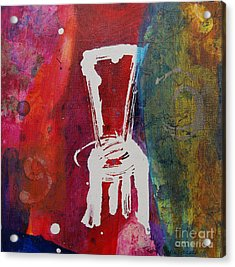 Acrylic Print featuring the painting Chair by Robin Maria Pedrero