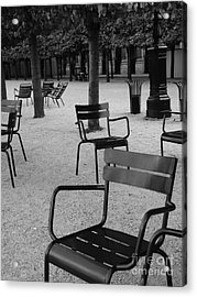 Chairs In Palais Royal Garden In Paris Acrylic Print