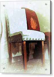 Chairs Acrylic Print by Robert Smith