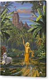 Chaitanya Mahaprabhu In Jaganath Puri Acrylic Print by Vrindavan Das