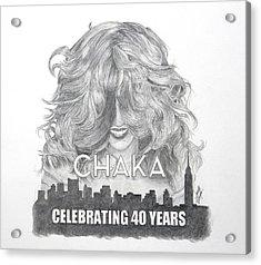 Chaka 40 Years Acrylic Print