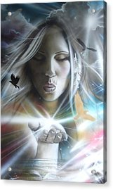 Portrait - ' Chakra ' Acrylic Print by Christian Chapman Art