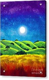 Chakra Landscape Acrylic Print by Laura Iverson