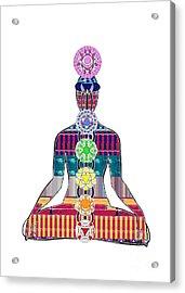 Chakra Yoga Mandala  Buy Faa Print Products Or Down Load For Self Printing Navin Joshi Rights Manage Acrylic Print