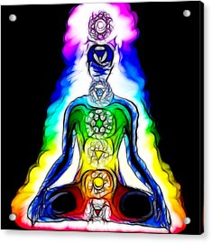 Chakras At Work Acrylic Print by Mary Burr