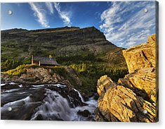 Chalet At The Falls Acrylic Print