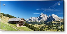 Acrylic Print featuring the photograph Chalet In South Tyrol by Carsten Reisinger
