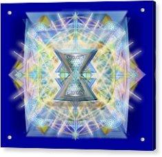 Chalicell Matrix Rainbow Cross Of Light Acrylic Print