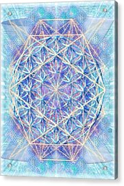 Chalicell Torq And Blue Vortex F O L Octagon Acrylic Print