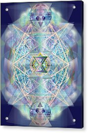 Chalicells Electric Sparkling Vortices Of Light II Acrylic Print