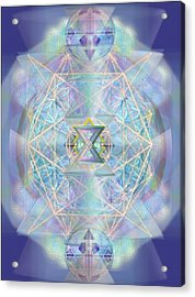 Chalicells Electro Dynamic Vortices Of Light Acrylic Print