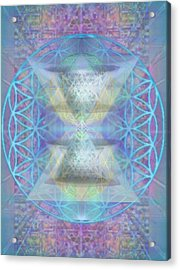 Chalicespheres And Flower Of Life Latticework Acrylic Print by Christopher Pringer