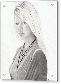 Chalize Theron Acrylic Print