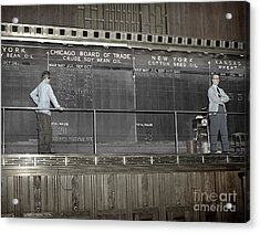 Chalk Board Of Trade 1951 Acrylic Print