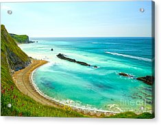 Chalky Shores Acrylic Print by Andrew Middleton