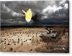 Challenger 1 Acrylic Print by J Biggadike