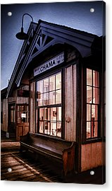 Chama Train Station Acrylic Print by Priscilla Burgers