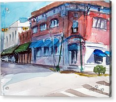 Chamber Of Commerce Mineola Tx Acrylic Print by Ron Stephens