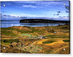 Chambers Bay Golf Course Acrylic Print by David Patterson