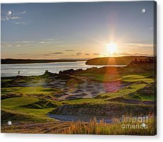 Chambers Bay Sun Flare - 2015 U.s. Open  Acrylic Print by Chris Anderson
