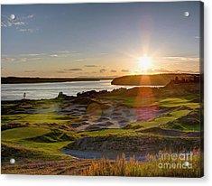 Chambers Bay Sun Flare - 2015 U.s. Open  Acrylic Print