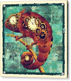 Chameleon - Aff01a Acrylic Print by Variance Collections