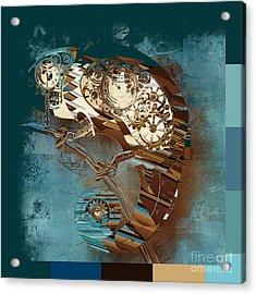 Chameleon  - J067070615 - Tq01 Acrylic Print by Variance Collections