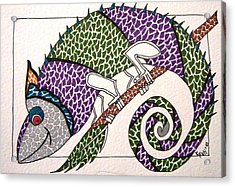 Chameleon Acrylic Print by Kruti Shah