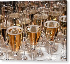 Champagne 01 Acrylic Print by Rick Piper Photography