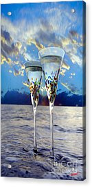 Champagne At Sunset Acrylic Print