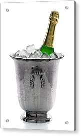 Champagne Bottle On Ice Acrylic Print by Johan Swanepoel