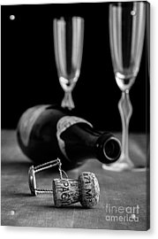Acrylic Print featuring the photograph Champagne Bottle Still Life by Edward Fielding