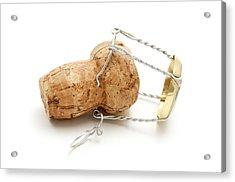 Champagne Cork Stopper Acrylic Print by Fabrizio Troiani