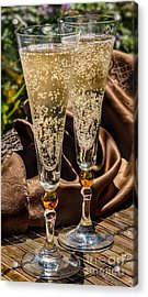 Champagne For Two Acrylic Print by Iris Richardson