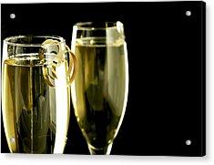 Champagne Acrylic Print by Karin Hildebrand Lau