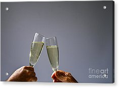 Champagne Toast Acrylic Print by Patricia Hofmeester